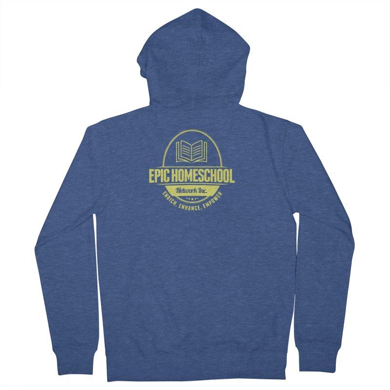 EPIC Homeschoolers Merchandise - Blue & Gold Men's Zip-Up Hoody by EPIC Homeschoolers Merch Shop