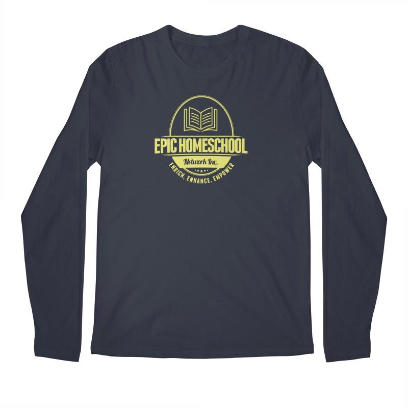 EPIC Homeschoolers Merchandise - Blue & Gold Men's Longsleeve T-Shirt by EPIC Homeschoolers Merch Shop