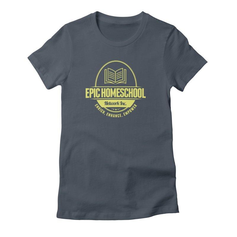 EPIC Homeschoolers Merchandise - Blue & Gold Women's T-Shirt by EPIC Homeschoolers Merch Shop