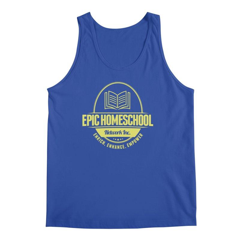 EPIC Homeschoolers Merchandise - Blue & Gold Men's Tank by EPIC Homeschoolers Merch Shop