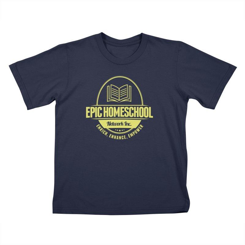 EPIC Homeschoolers Merchandise - Blue & Gold Kids T-Shirt by EPIC Homeschoolers Merch Shop
