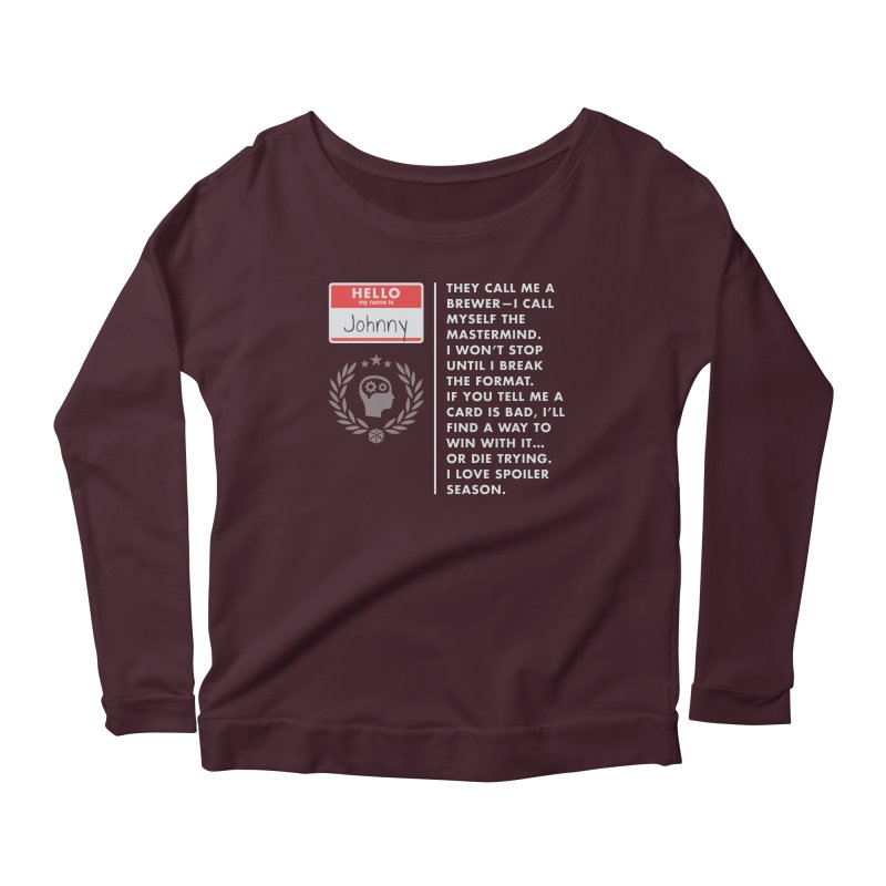Johnny Women's Scoop Neck Longsleeve T-Shirt by Epic Upgrades
