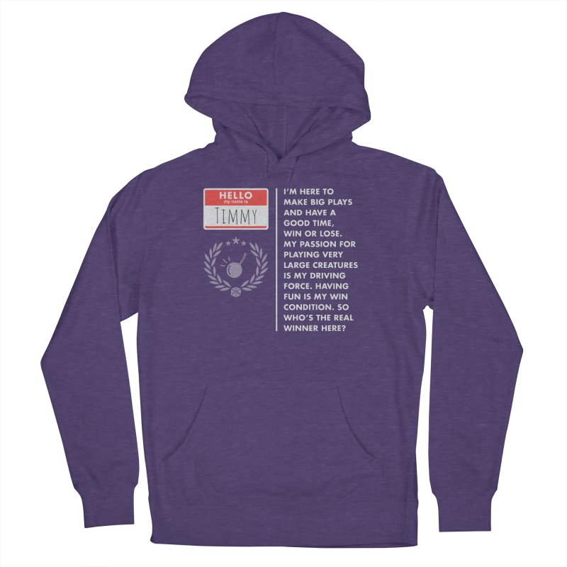 Timmy Women's French Terry Pullover Hoody by Epic Upgrades