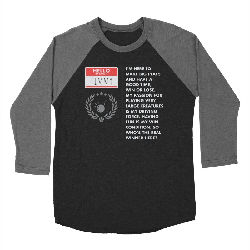 Timmy Women's Baseball Triblend T-Shirt by Epic Upgrades