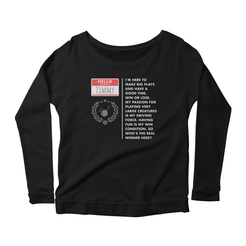 Timmy Women's Scoop Neck Longsleeve T-Shirt by Epic Upgrades
