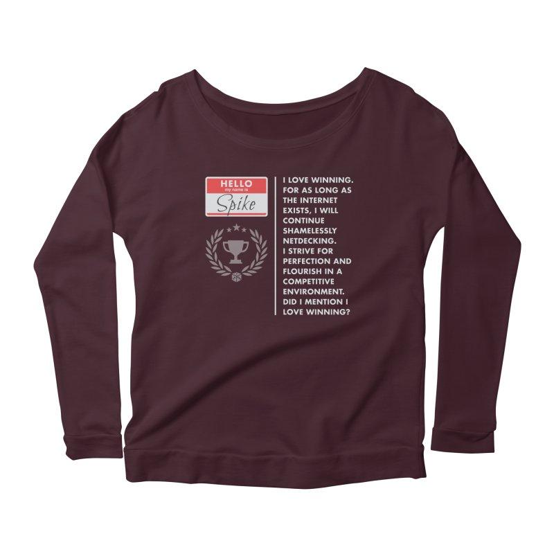 Spike Women's Scoop Neck Longsleeve T-Shirt by Epic Upgrades
