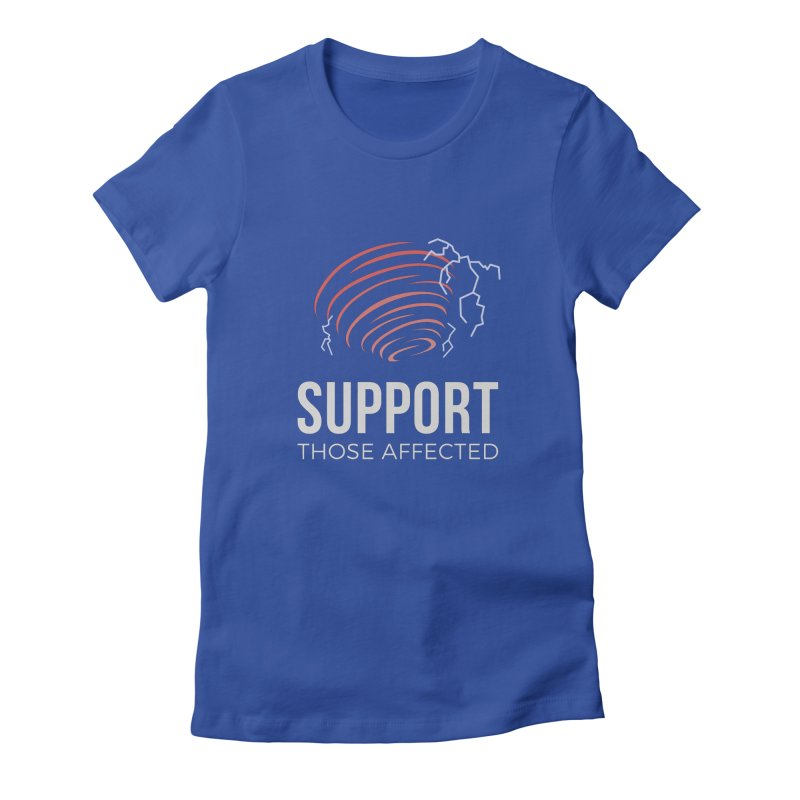 Cyclonic Rift - Support those Affected Women's Fitted T-Shirt by Epic Upgrades