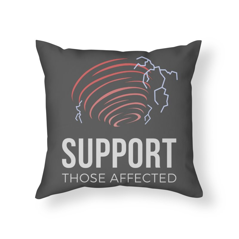 Cyclonic Rift - Support those Affected Home Throw Pillow by Epic Upgrades