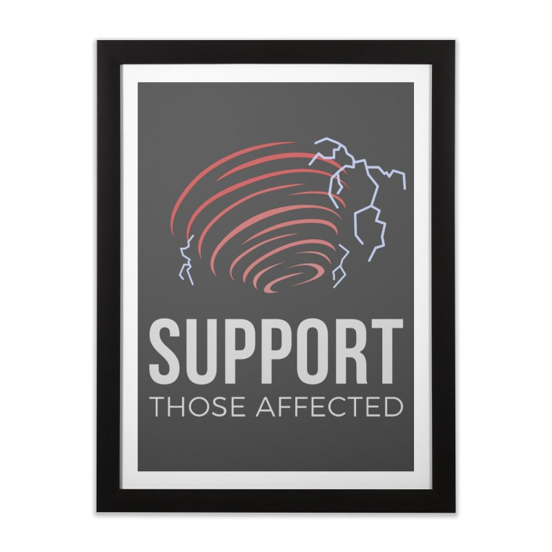 Cyclonic Rift - Support those Affected Home Framed Fine Art Print by Epic Upgrades