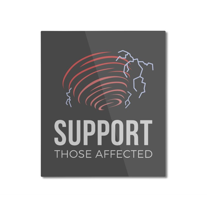 Cyclonic Rift - Support those Affected Home Mounted Aluminum Print by Epic Upgrades