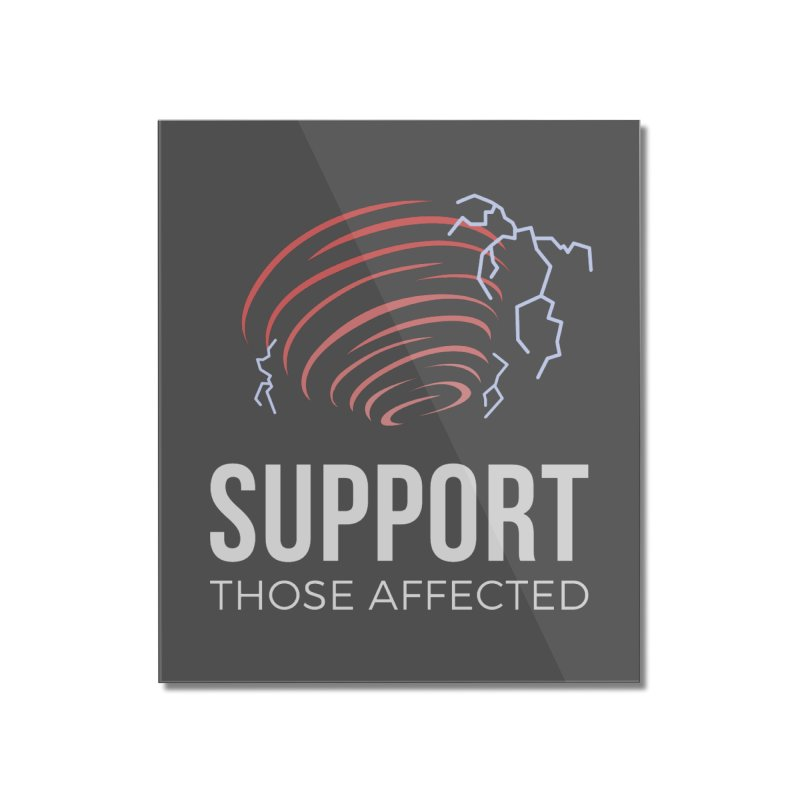 Cyclonic Rift - Support those Affected Home Mounted Acrylic Print by Epic Upgrades