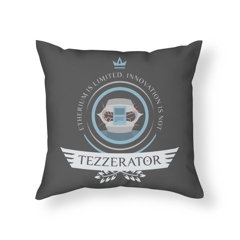 Tezzerator! Home Throw Pillow by Epic Upgrades