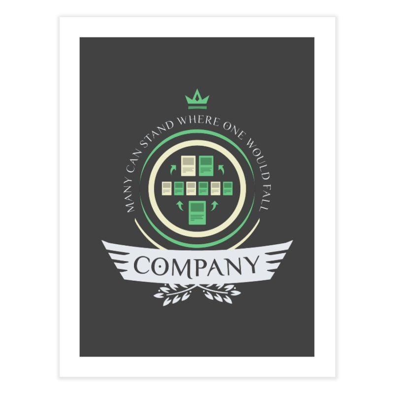 Collected Company Life V1 Home Fine Art Print by Epic Upgrades
