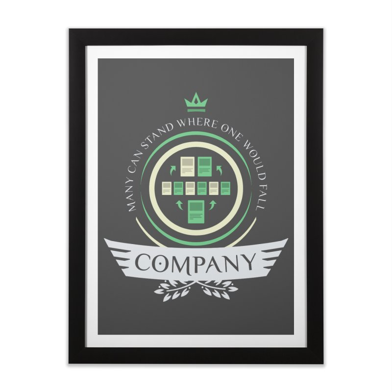 Collected Company Life V1 Home Framed Fine Art Print by Epic Upgrades