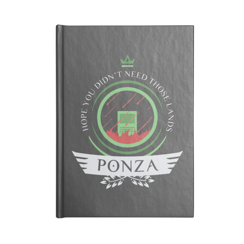 Ponza Life Accessories Notebook by Epic Upgrades