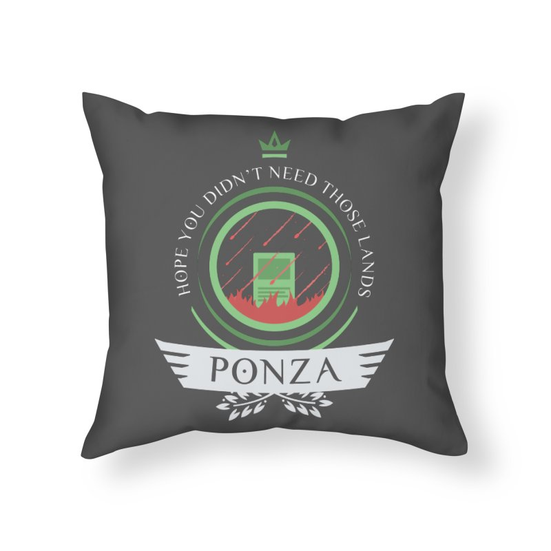 Ponza Life Home Throw Pillow by Epic Upgrades