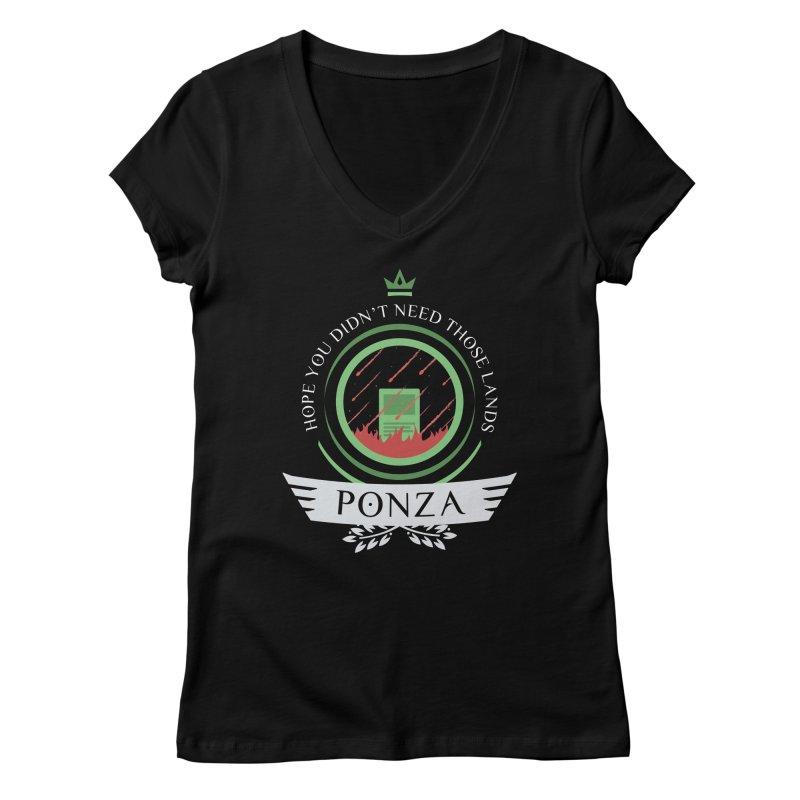 Ponza Life Women's V-Neck by Epic Upgrades