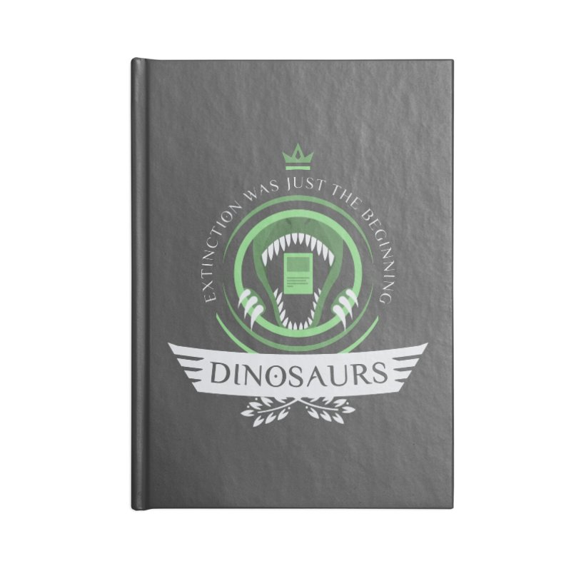 Dinosaurs Life Accessories Blank Journal Notebook by Epic Upgrades