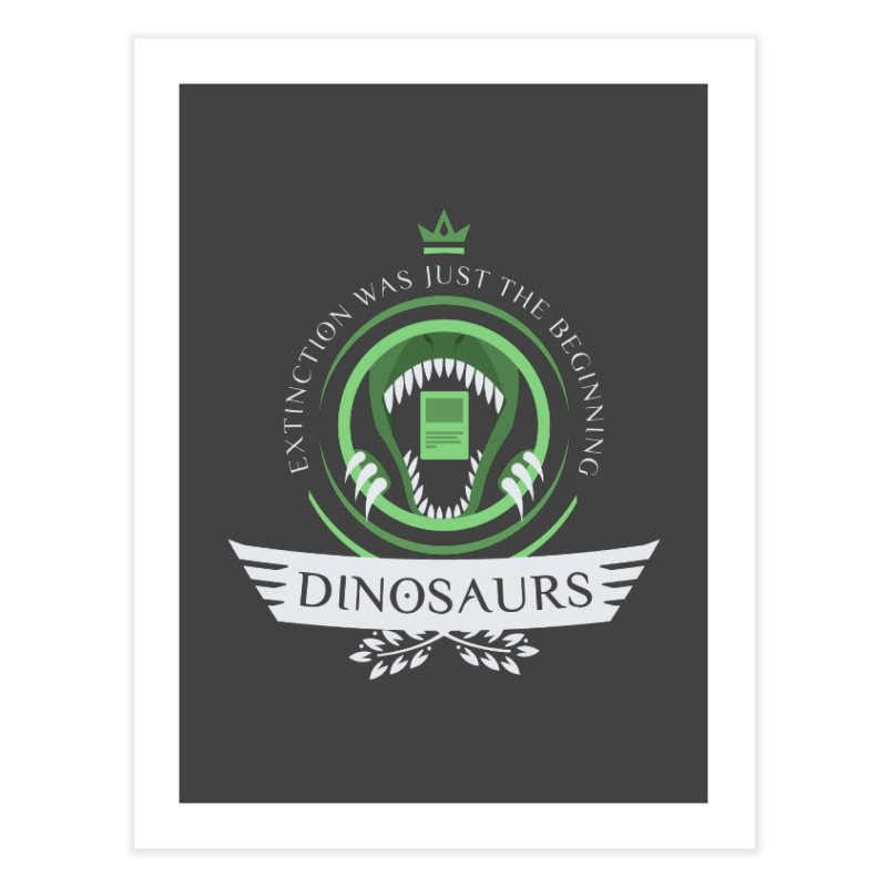 Dinosaurs Life Home Fine Art Print by Epic Upgrades