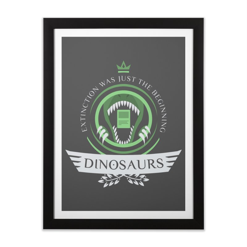 Dinosaurs Life Home Framed Fine Art Print by Epic Upgrades
