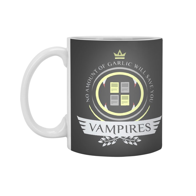 Vampires Life Accessories Standard Mug by Epic Upgrades