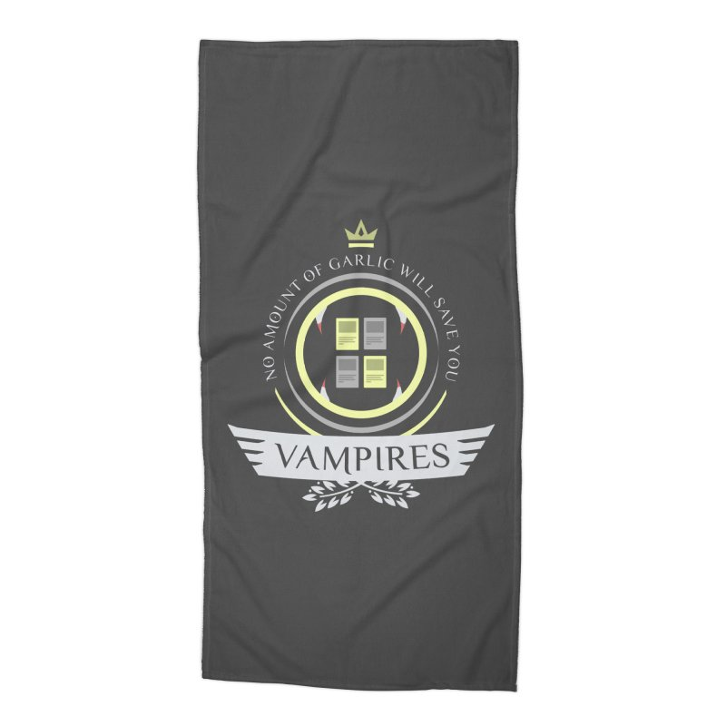 Vampires Life Accessories Beach Towel by Epic Upgrades