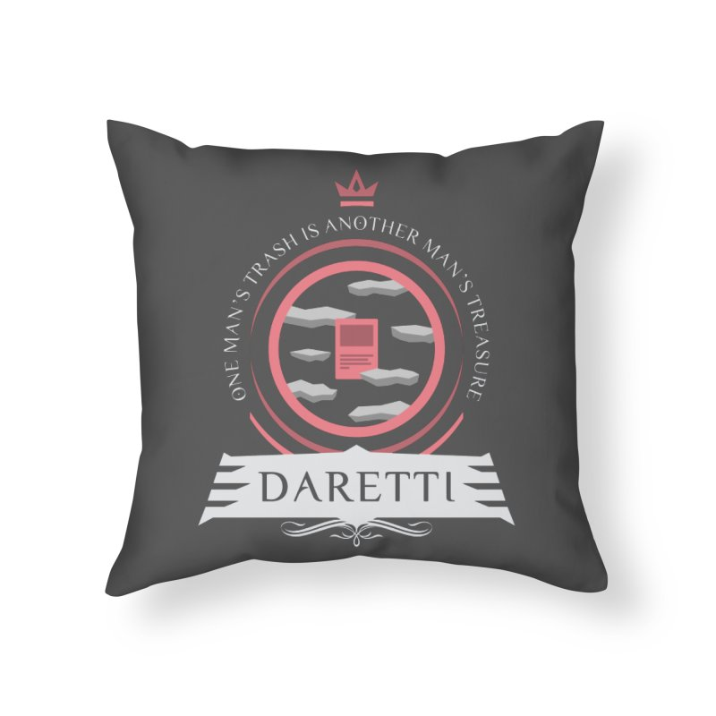 Commander Daretti Home Throw Pillow by Epic Upgrades