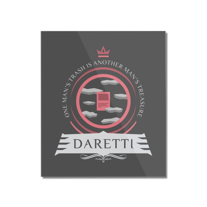 Commander Daretti Home Mounted Acrylic Print by Epic Upgrades