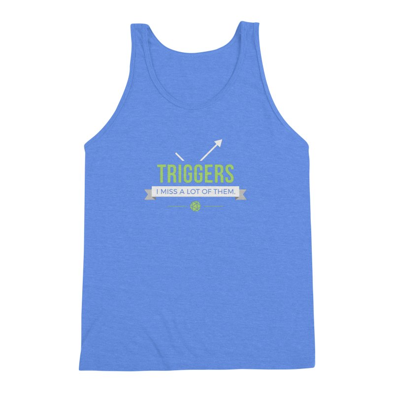 Triggers Men's Triblend Tank by Epic Upgrades