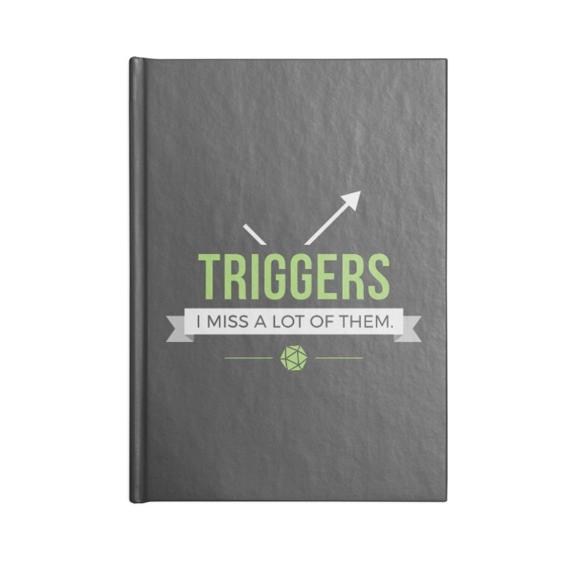 Triggers Accessories Blank Journal Notebook by Epic Upgrades