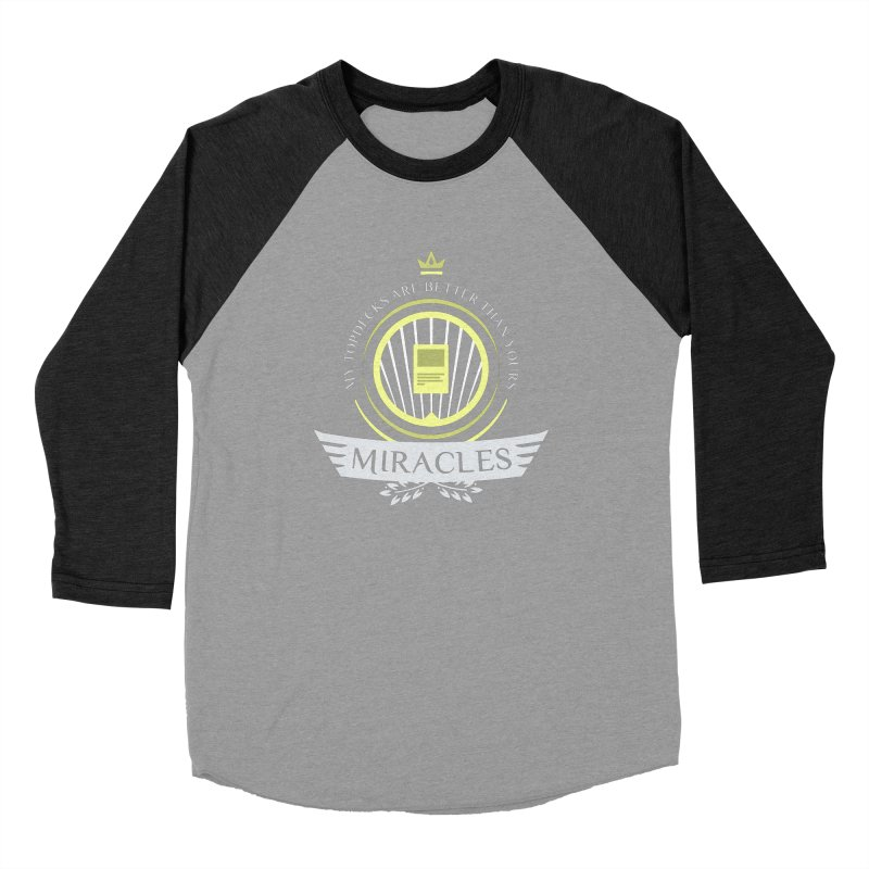 Miracles Life Men's Baseball Triblend Longsleeve T-Shirt by Epic Upgrades