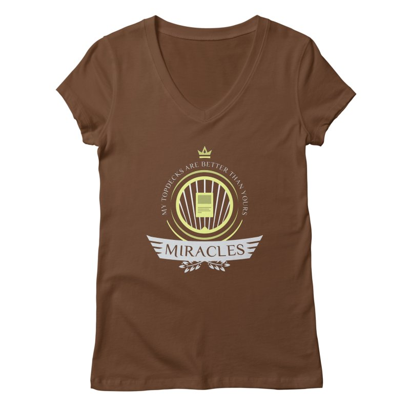Miracles Life Women's Regular V-Neck by Epic Upgrades