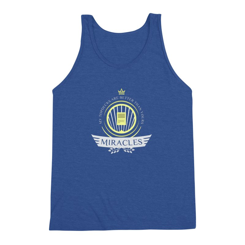 Miracles Life Men's Triblend Tank by Epic Upgrades