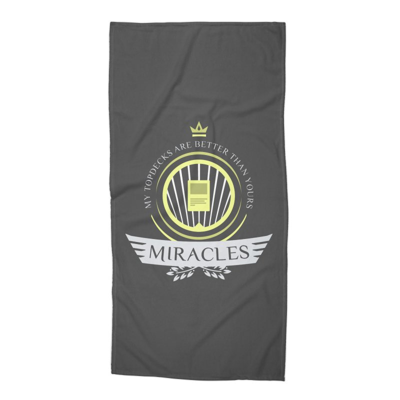 Miracles Life Accessories Beach Towel by Epic Upgrades