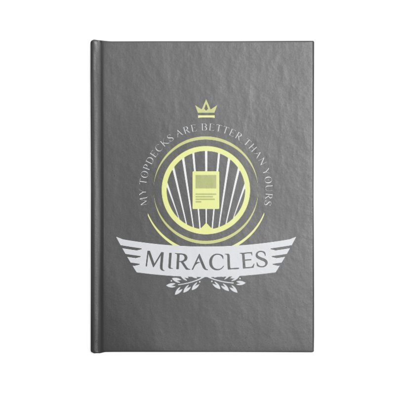 Miracles Life Accessories Blank Journal Notebook by Epic Upgrades
