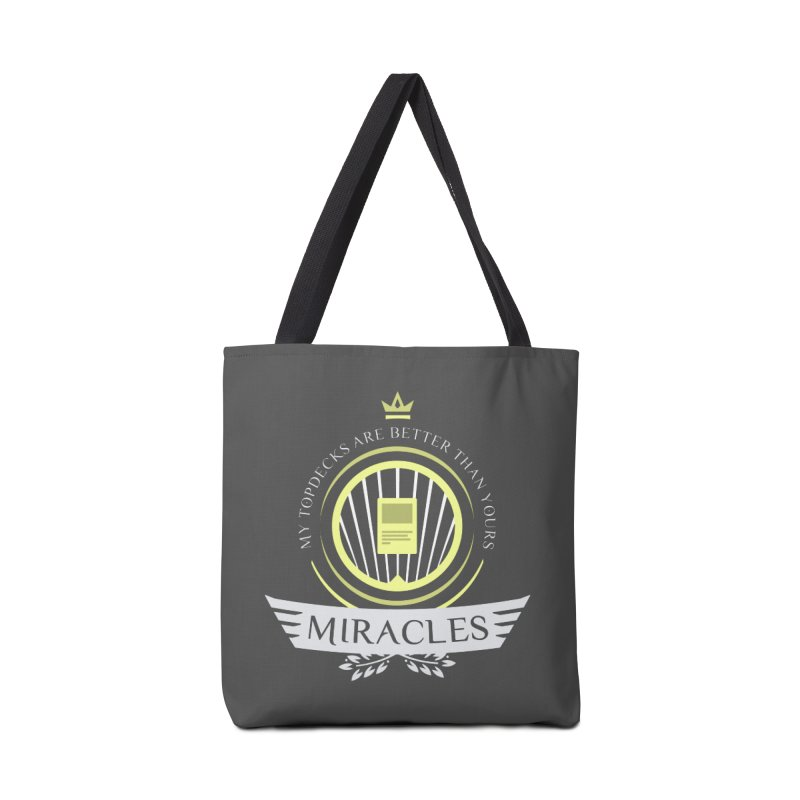 Miracles Life Accessories Tote Bag Bag by Epic Upgrades
