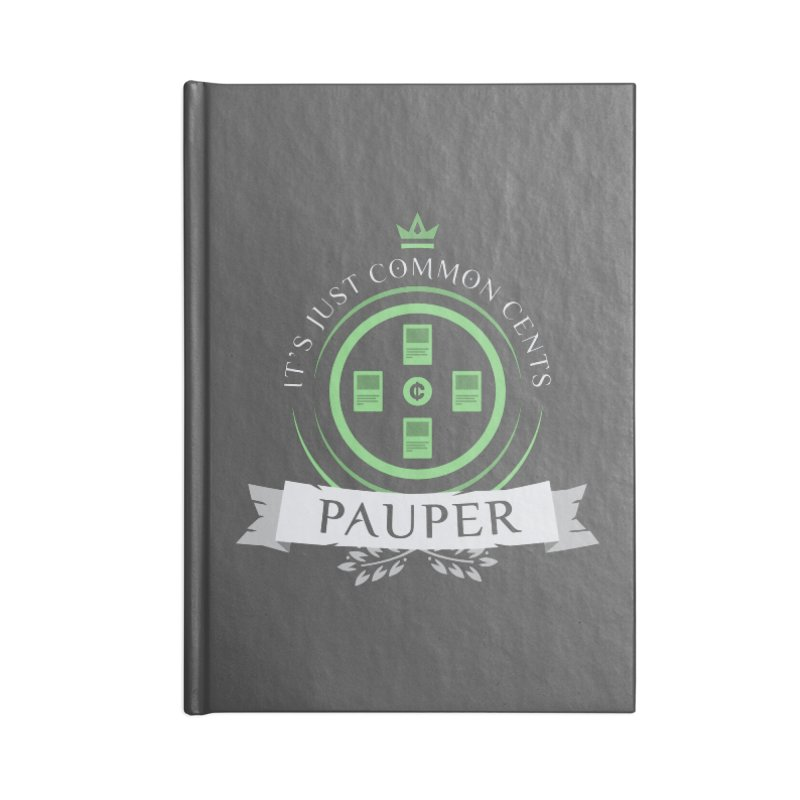 Pauper Life Accessories Blank Journal Notebook by Epic Upgrades