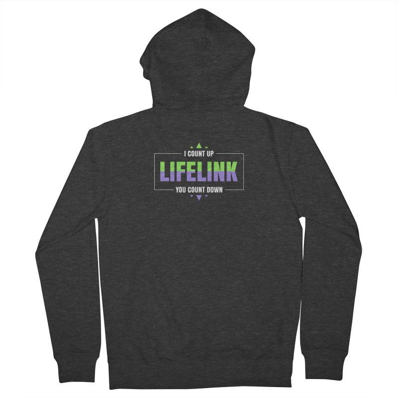 Lifelink - I Count Up, You Count Down Men's French Terry Zip-Up Hoody by Epic Upgrades