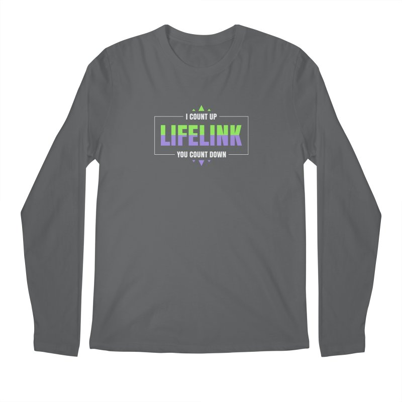 Lifelink - I Count Up, You Count Down Men's Longsleeve T-Shirt by Epic Upgrades