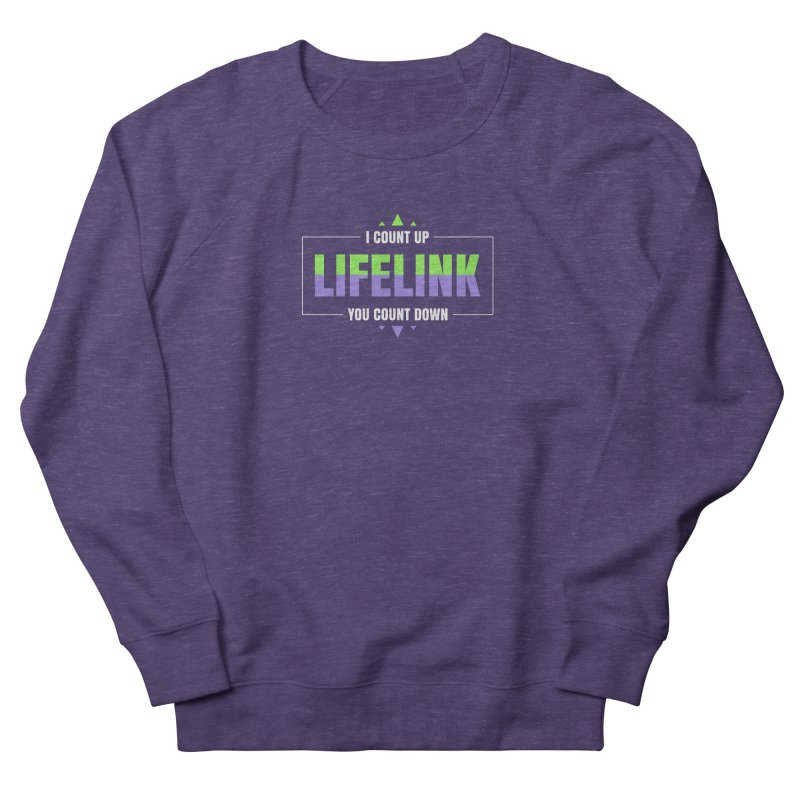 Lifelink - I Count Up, You Count Down Men's French Terry Sweatshirt by Epic Upgrades