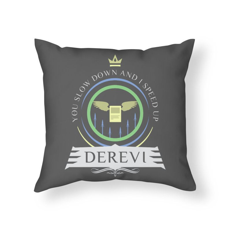 Commander Derevi Home Throw Pillow by Epic Upgrades
