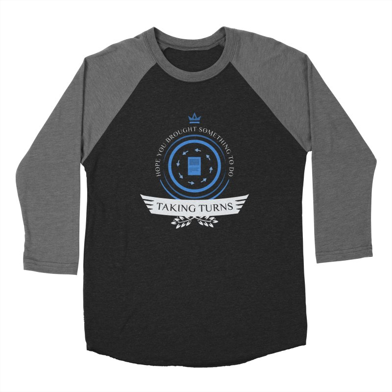 Taking Turns Men's Baseball Triblend Longsleeve T-Shirt by Epic Upgrades