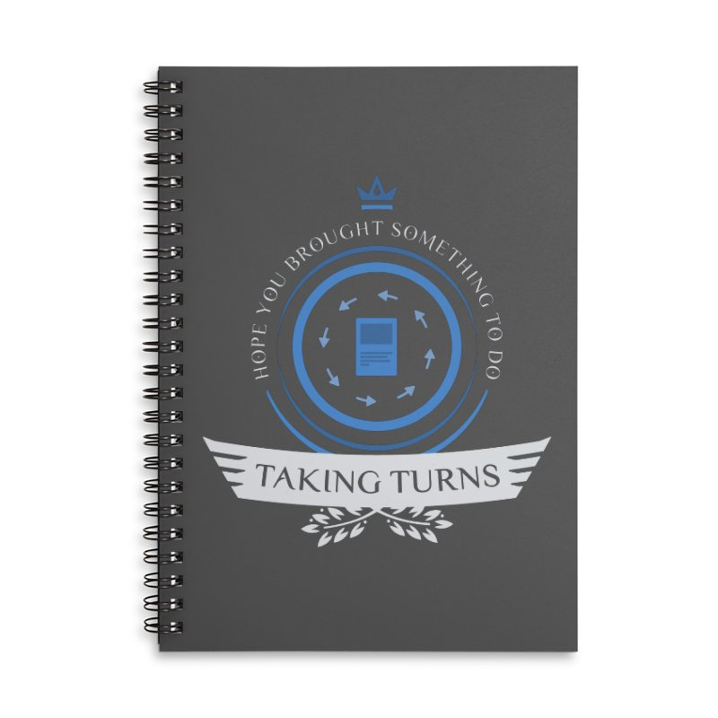 Taking Turns Accessories Lined Spiral Notebook by Epic Upgrades