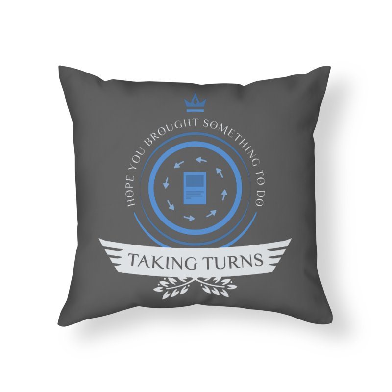 Taking Turns Home Throw Pillow by Epic Upgrades