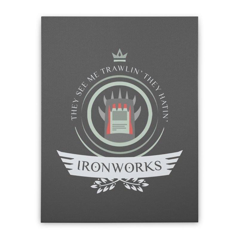 Ironworks Life Home Stretched Canvas by Epic Upgrades