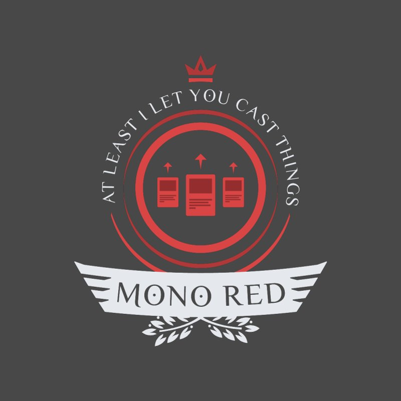 Mono Red Life Men's T-Shirt by Epic Upgrades