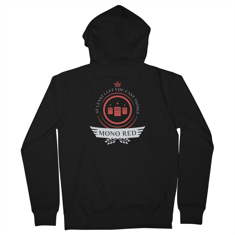 Mono Red Life Men's French Terry Zip-Up Hoody by Epic Upgrades