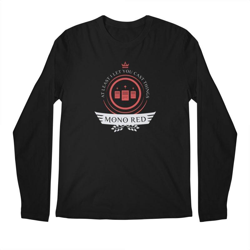 Mono Red Life Men's Regular Longsleeve T-Shirt by Epic Upgrades