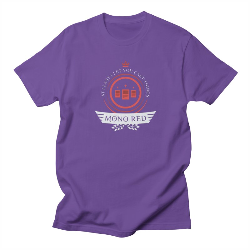 Mono Red Life Women's Regular Unisex T-Shirt by Epic Upgrades