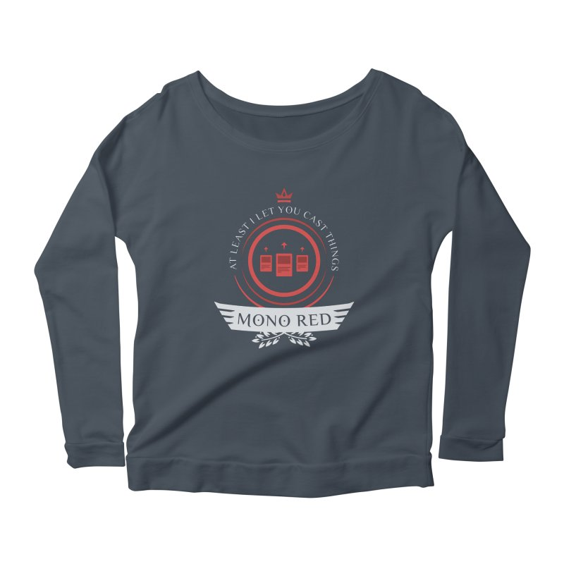 Mono Red Life Women's Longsleeve T-Shirt by Epic Upgrades